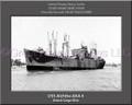 USS Alchiba AKA 6 Personalized Ship Canvas Print