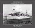 USS Alcor AD 34 Personalized Ship Canvas Print