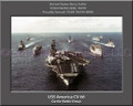 USS America CV 66 Battle Group Personalized Ship Canvas Print