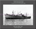 USS Ara AKA 136 Personalized Ship Canvas Print