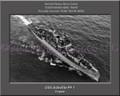USS Ashville PF 1 Personalized Ship Canvas Print