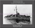 USS Barry APD 29 Personalized Ship Canvas Print