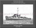 USS Bates DE 68 Personalized Ship Canvas Print