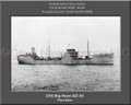 USS Big Horn AO 45 Personalized Ship Canvas Print