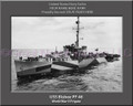 USS Bisbee DD 665 Personalized Ship Canvas Print