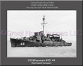 USS Blessman APD 48 Personalized Ship Canvas Print