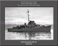 USS Brackett DE 41 Personalized Ship Canvas Print