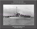 USS Brownsville PF 10 Personalized Ship Canvas Print
