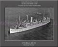 USS Alcor AD 34 Personalized Ship Canvas Print #2
