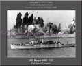 USS Begor APD 127 Personalized Ship Canvas Print #2
