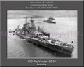 USS Washington BB 56 Personalized Ship Canvas Print #2