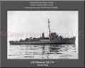 USS Weaver DE 741 Personalized Ship Canvas Print