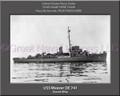 USS Weaver DE 741 Personalized Ship Canvas Print