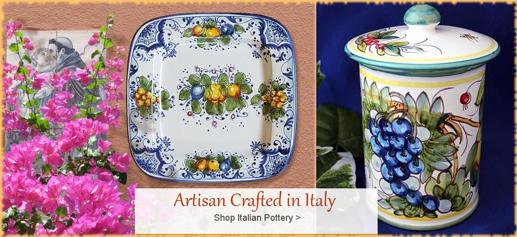 Italian Pottery Italian Ceramics Discount Prices FREE Shipping | BellaSoleil.com Since 1996