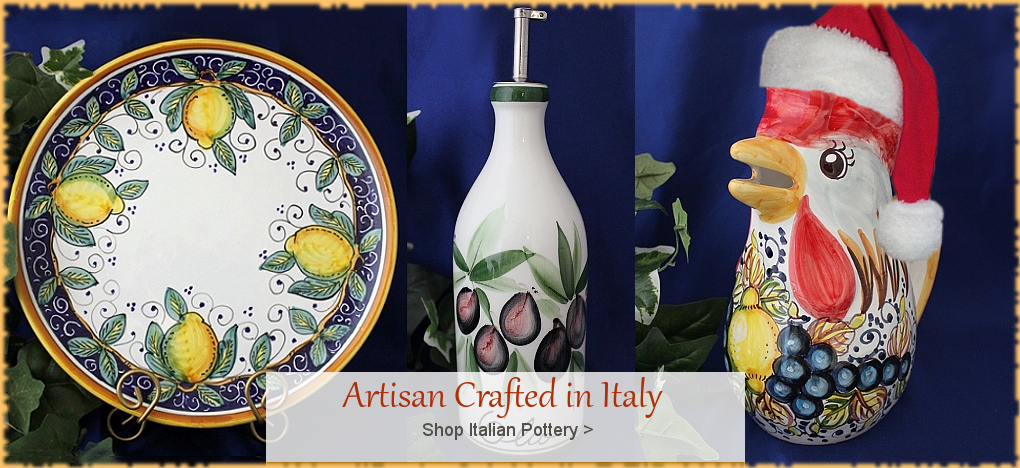 Italian Pottery, Tuscan, Mediterranean Style Home Decor, FREE Shipping, No Sales Tax | BellaSoleil.com Tuscan Decor Since 1996