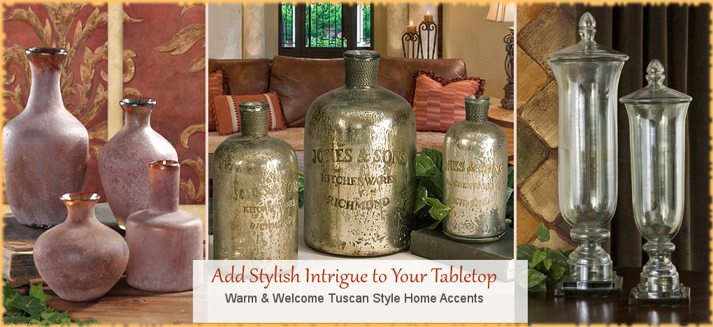 Tuscan Mediterranean Style Home Decor, FREE Shipping, No Sales Tax | BellaSoleil.com Tuscan Decor Since 1996