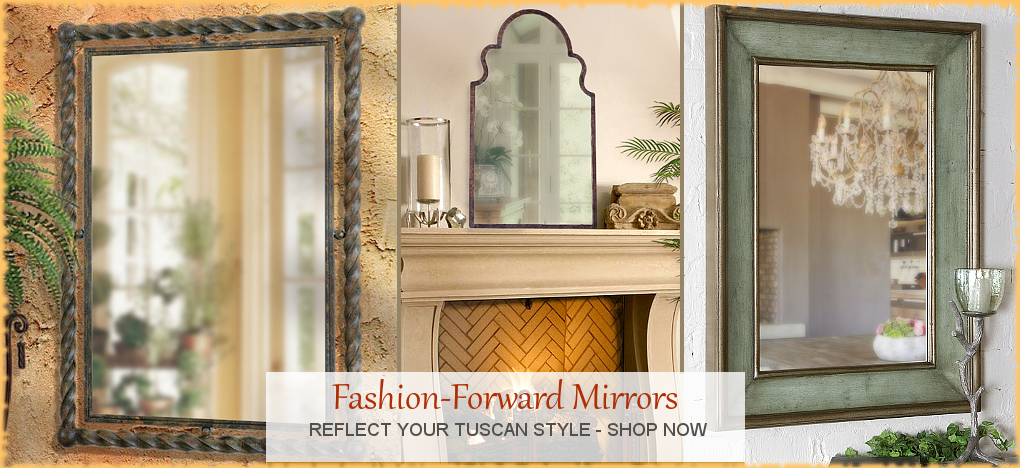 Tuscan Mediterranean Style Wall Mirrors, FREE Shipping, No Sales Tax | BellaSoleil.com Tuscan Decor Since 1996