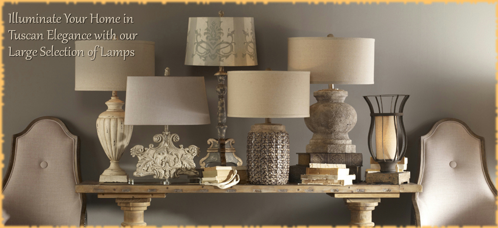 Tuscan Mediterranean Style Lamps, FREE Shipping, No Sales Tax | BellaSoleil.com Tuscan Decor Since 1996
