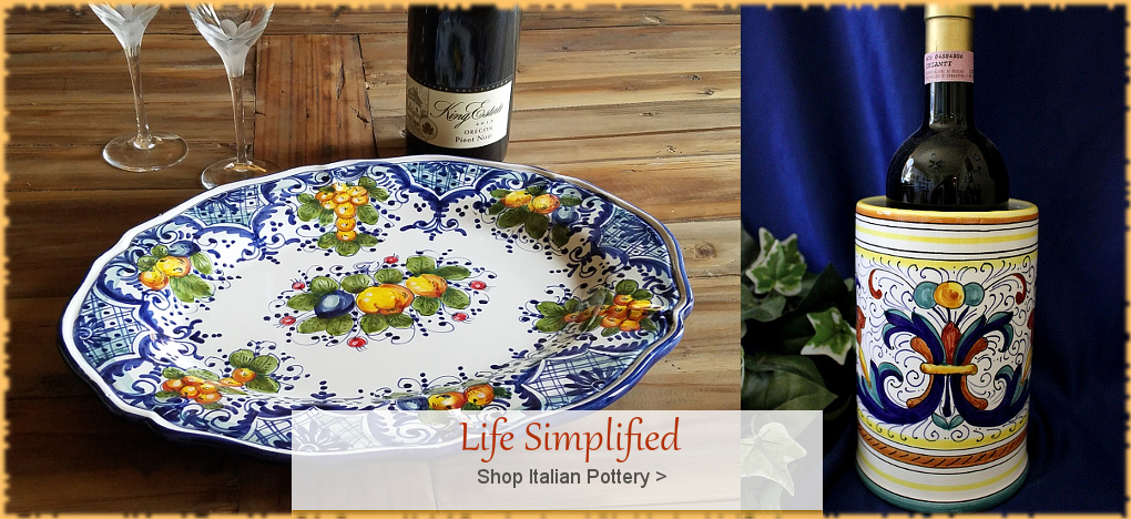 Buy Authentic Italian Pottery. FREE Shipping. BellaSoleil.com Since 1996