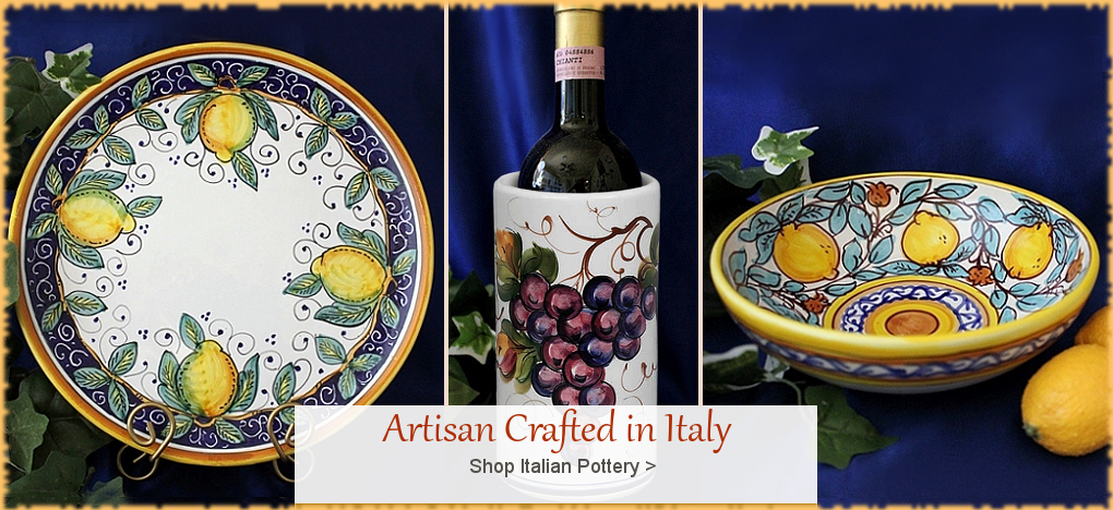 Italian Pottery Italian Ceramics Discount Prices | BellaSoleil.com Since 1996