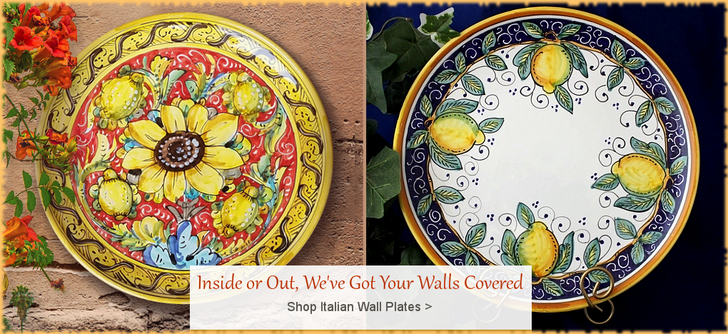 Italian Pottery Italian Ceramics FREE Shipping No Sales Tax | BellaSoleil Since 1996