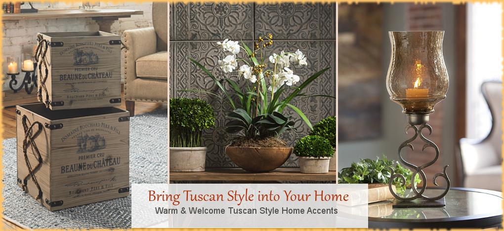 Tuscan Mediterranean Home Decor FREE Shipping No Sales Tax | BellaSoleil Since 1996