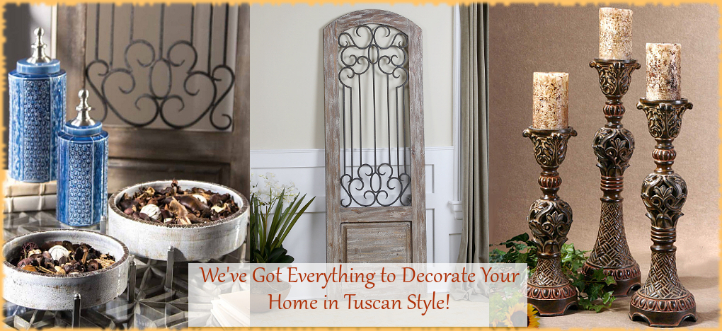 Tuscan Mediterranean Home Decor FREE Shipping No Sales Tax | BellaSoleil Since 1996