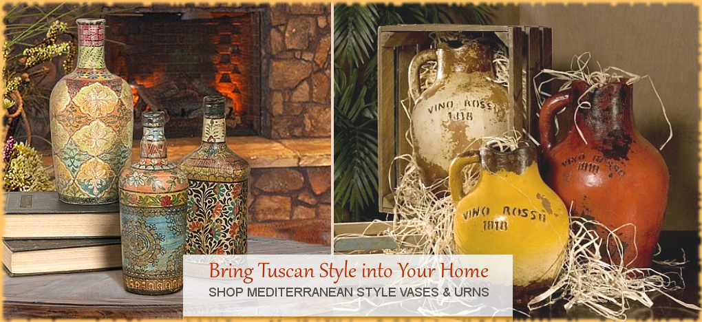 Tuscan Mediterranean Home Decor FREE Shipping No Sales Tax | BellaSoleil.com Since 1996
