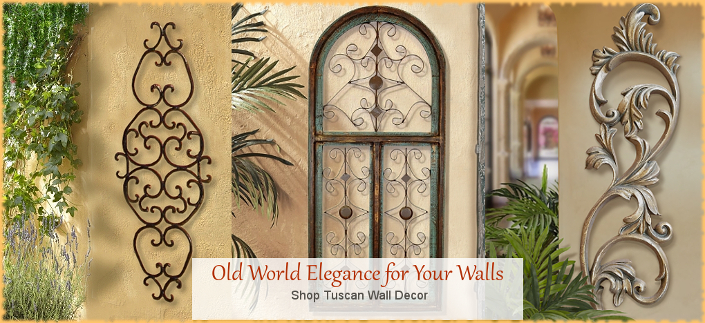 Tuscan Mediterranean Wall Sconces Candleholders | FREE Shipping | BellaSoleil.com Since 1996