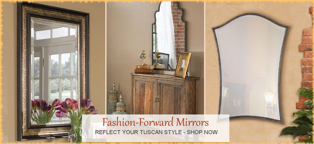 Tuscan, Mediterranean Style Mirrors, FREE Shipping, No Sales Tax | BellaSoleil.com Tuscan Decor Since 1996