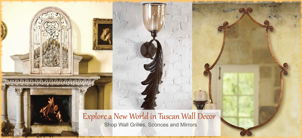 Tuscan, Mediterranean Style Wall Decor, FREE Shipping, No Sales Tax | BellaSoleil.com Tuscan Decor Since 1996