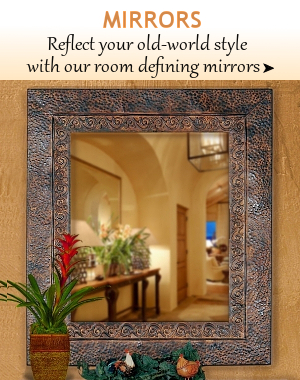 ... Tuscan Wall Mirrors Tuscan Mirrors | BellaSoleil.com Tuscan Decor And  Italian Pottery ...