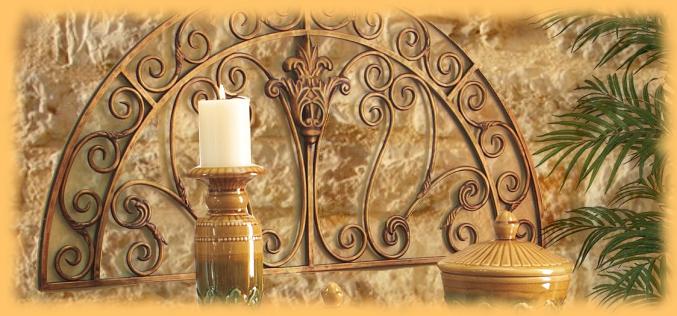 Texas wrought iron scroll wall decor