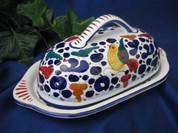 Deruta Arabesco Butter Dish