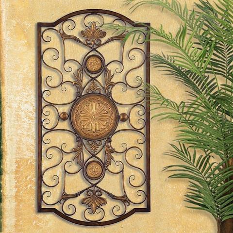 acanthus mediterranean wall grille. Black Bedroom Furniture Sets. Home Design Ideas
