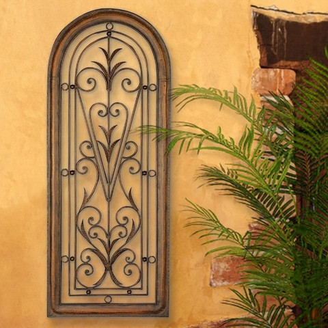 Architectural tuscan window arched wall grille for Window arch wall decor