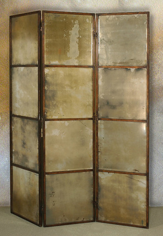 Antico 3 Panel Room Divider Screen BellaSoleilcom