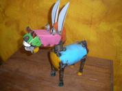 Metal Donkey Statue