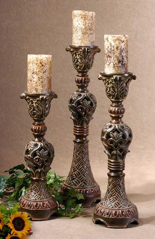 Barocco Empire Candle Holders Set Of 3 Bellasoleil Com