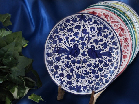 Deruta Arabesco Plate & Deruta Arabesco Blue u0026 White Dinner Plate - BellaSoleil.com