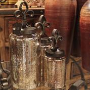 Fleur De Lis Jars, Tuscan Jars