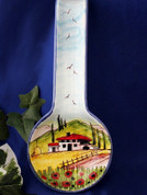 Tuscany Spoon Rest, Tuscan Spoon Rest, Tuscan Landscape Spoon Rest