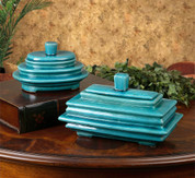 Tuscan Boxes, Blue Ceramic Boxes