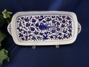 Deruta Arabesco Blue & White Tray