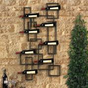 Tuscan Wine Rack Wall Decor