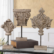 Tuscan Finial Statues, Fleur De Lis Finial Statues, Old World Statues