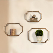 Tuscan Wall Shelf, Gold Wall Shelves, Metal Wall Shelves