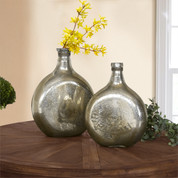 Mercury Glass Bottles, Mercury Glass Vase