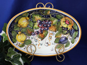 Tuscan Lemons Grapes Serving Dish, Tuscan Lemon Grapes Platter, Tuscan Lemons Serving Platter