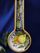 Tuscan Lemons Spoon Rest, Lemons Spoon Rest, Italian Lemons Spoon Rest